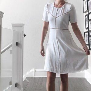 NWT The Kooples Short Sleeve White Midi Dress